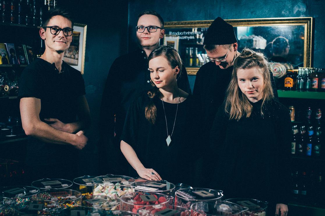 Hohka: Valtteri Lehto, Veikko Muikku, Meriheini Luoto, Enne Purovaara ja Minna Koskenlahti. Kuva: Antti Kokkola