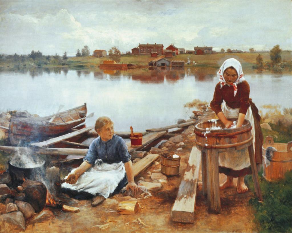 Eero Järnefelt, Pyykkirannassa 1889