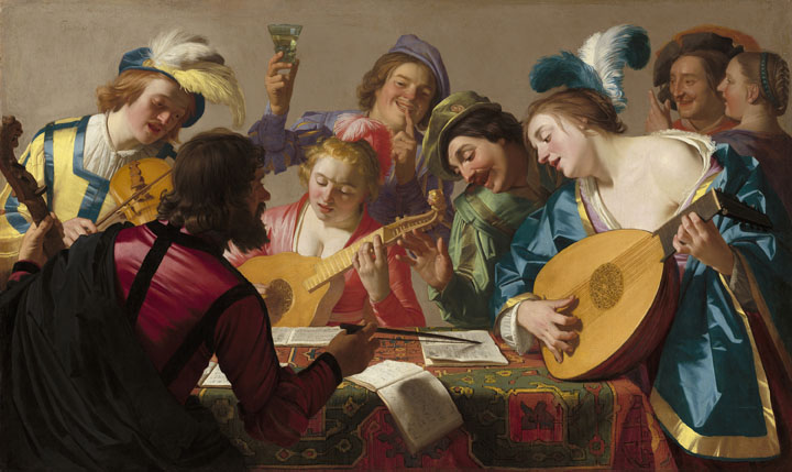 Gerrit van Honthorst (Dutch, 1592 - 1656 ), The Concert, 1623, oil on canvas, Patrons' Permanent Fund and Florian Carr Fund